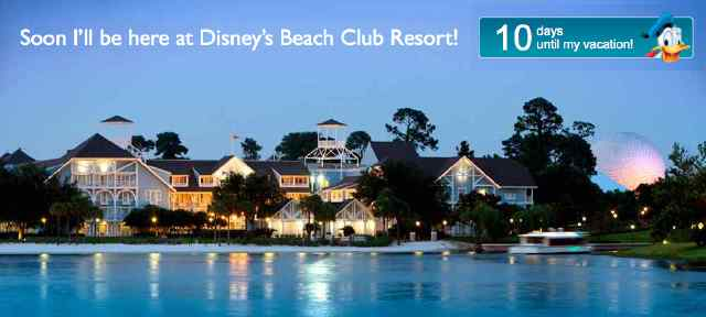 10 Days until My Vacation! Soon I will be here at the Beach Club...