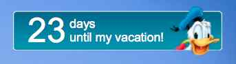 23 days until my vacation