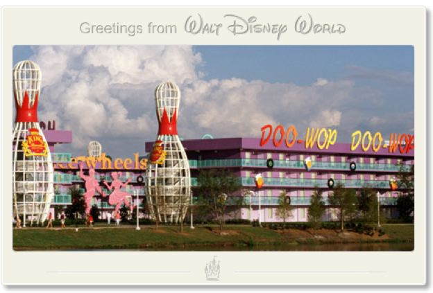 Greetings from Disney's Pop Century Resort