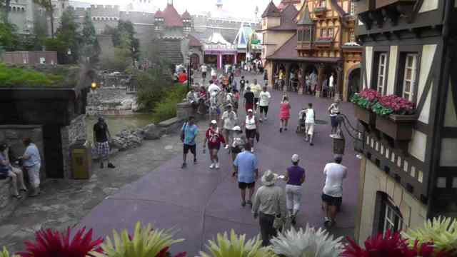Fantasyland seen from 2nd floor of Columbia Harbour House