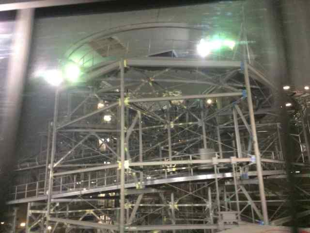 Space Mountain in the magical glow of work lights