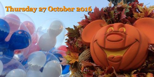 Thursday 27 October 2016