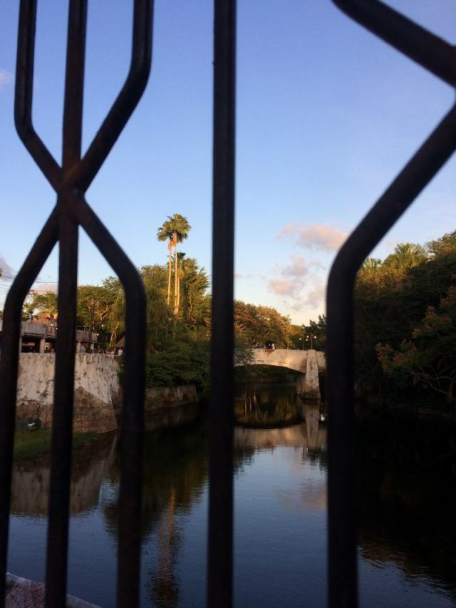 Bridge from Africa to Discovery Island