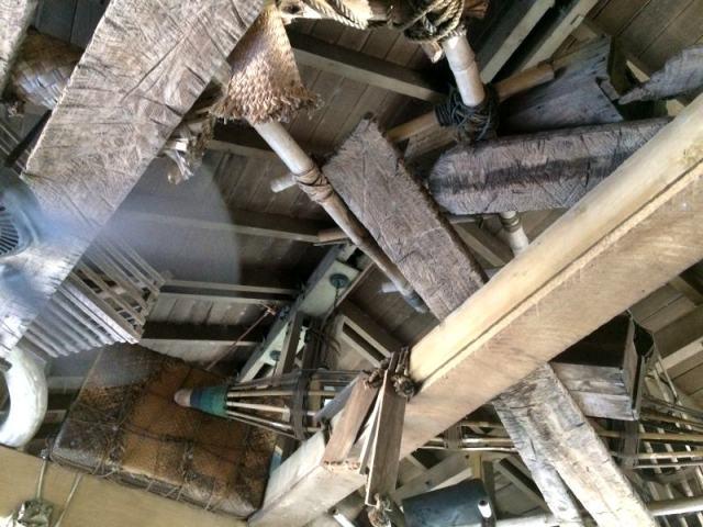 Fanned rafters