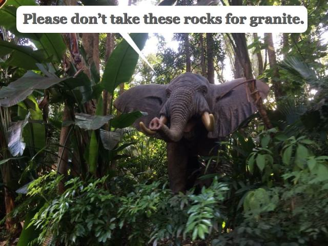 Please don't take these rocks for granite.