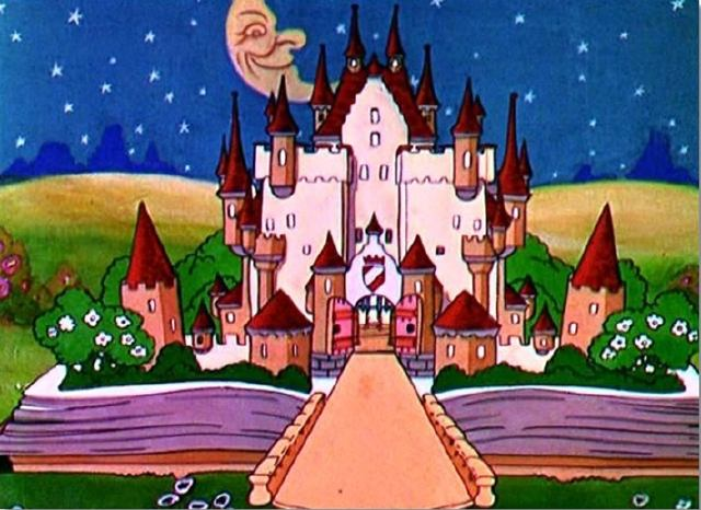Crescent Moon over King Cole's Castle