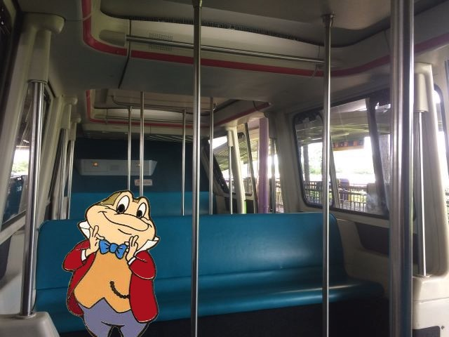 Toad on the monorail