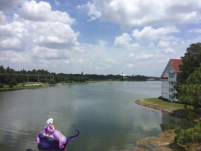 Ursula in the lagoon