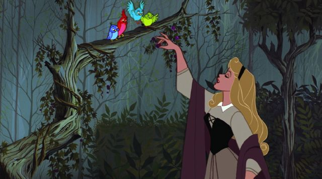 Briar Rose and birds