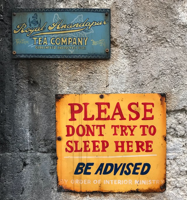 Please don't try to sleep here