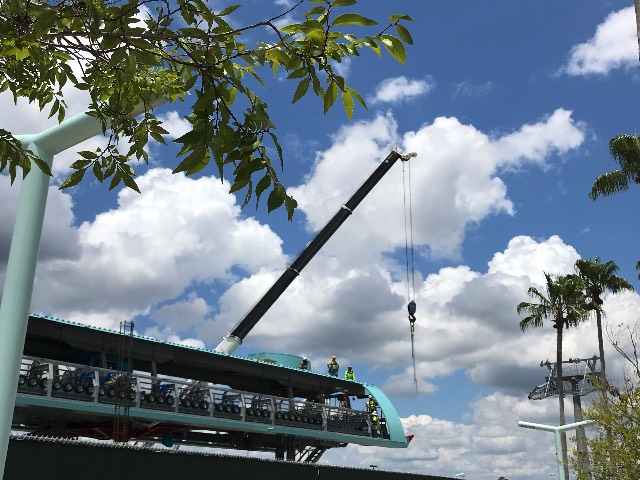 Skyliner Station construction, Disney's Hollywood Studios