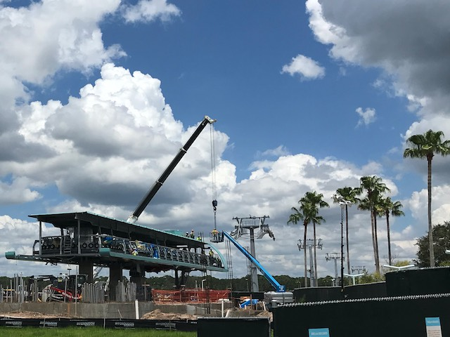 more Skyliner Station construction, Disney's Hollywood Studios