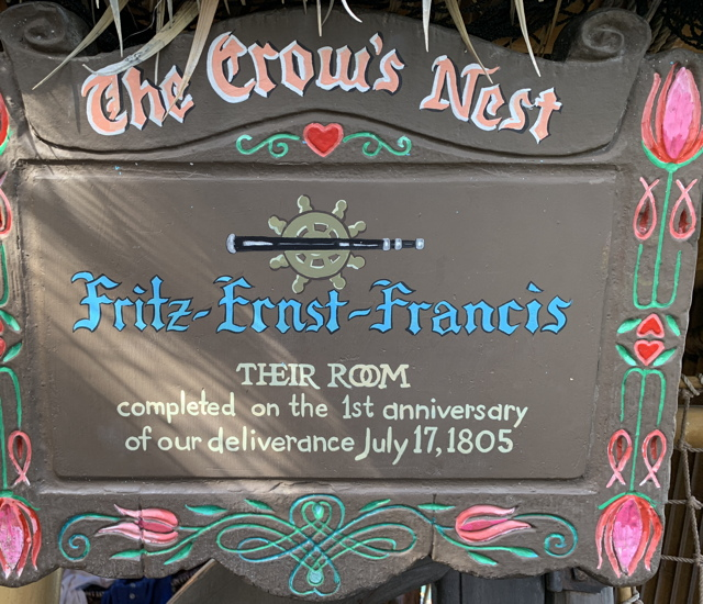 The Crow's Nest: Fritz, Ernst, Francis - their room