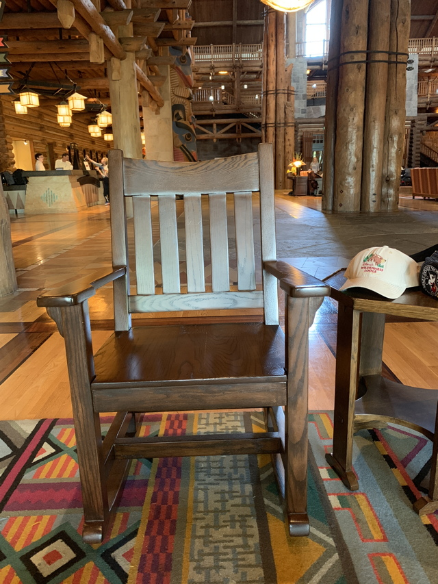 in the form of a rocking chair