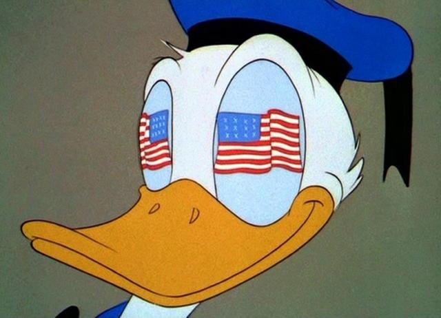 flaggy-eyed Donald