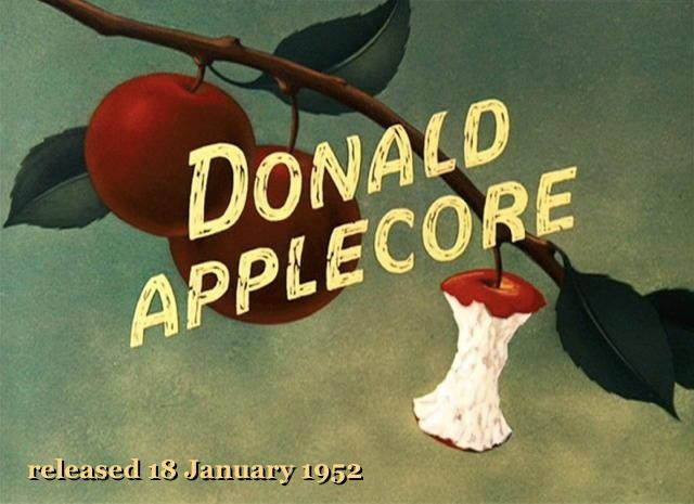 Donald Applecore - released 18 January 1952