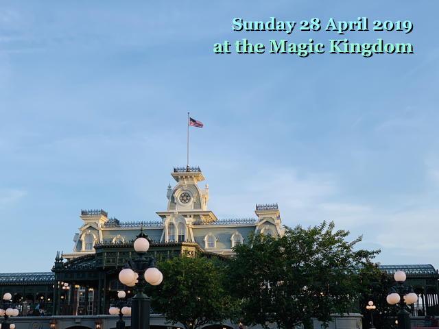 Sunday 28 April 2019 at the Magic Kingdom
