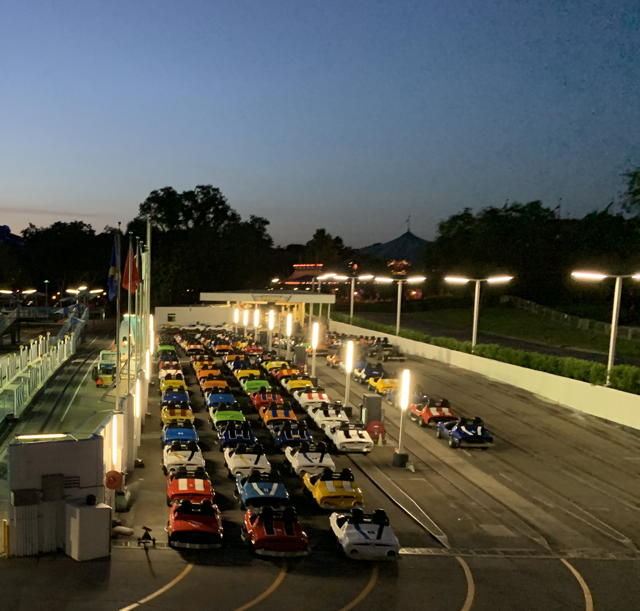 the closed Tomorrowland Speedway