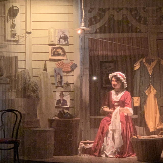 """""""Betsy Ross"""" with electric light on the porch"""""""